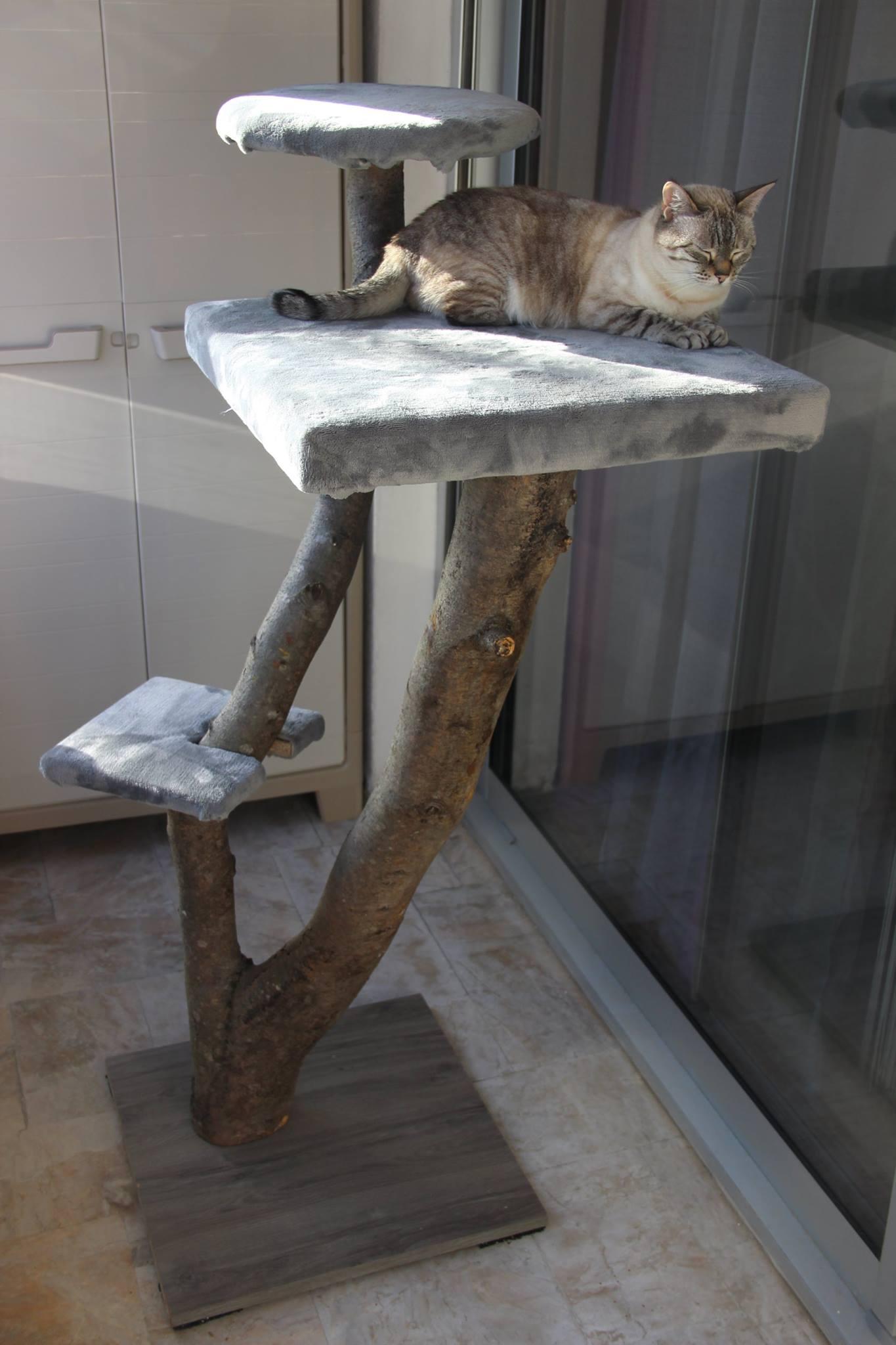 Arbre à chats en bois - Art by Ze studio Annecy