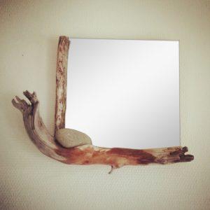 miroir et bois flotté - Art by Ze studio Annecy