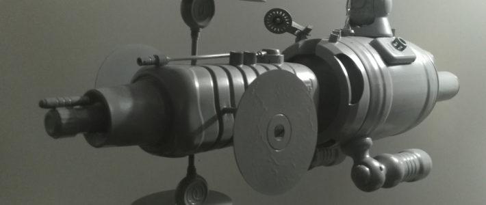 vaisseau spatial artisanal en emballages - abz design annecy