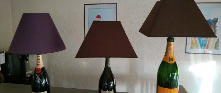 Lampes bouteilles de champagne - abz design Annecy