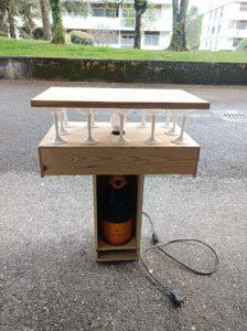 lampe table Veuve Clicquot
